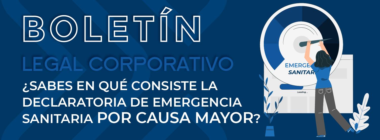 Emergencia Sanitaria 1 DECLARATORIA DE EMERGENCIA 01