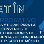 SE HABILITAN DÍAS Y HORAS PARA LA CELEBRACIÓN DE CONVENIOS DE MODIFICACIÓN DE CONDICIONES DE TRABAJO 2 CELEBRACIÓN DE CONVENIOS EDO MEX